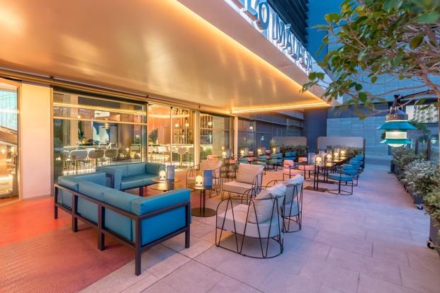 terraza hotel barceló málaga