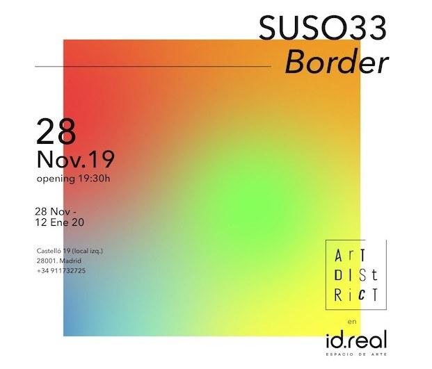 Diseño de invitación. exposición Suso 33