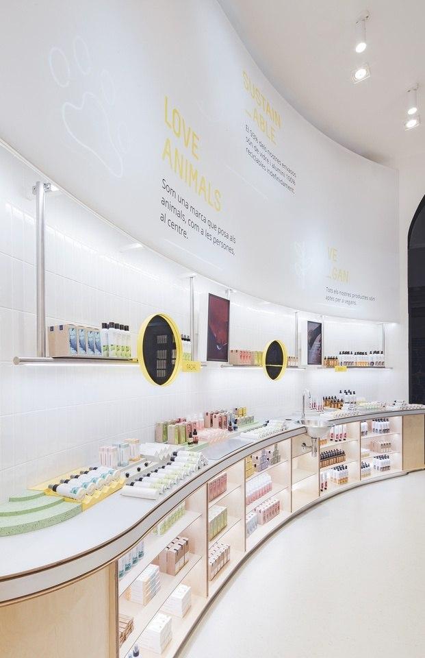 Proyecto Culdesca para tienda Freshly Cosmetics Store en Barcelona
