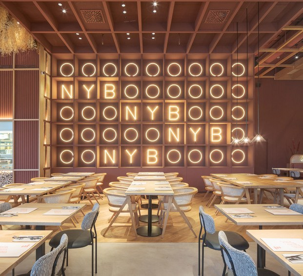 Restaurant & Bar Design Awards. Restaurante New York Burger en Madrid. Proyecto Singular.