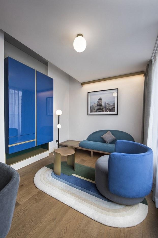 hotel one shot madrid alfaro manrique habitación azul