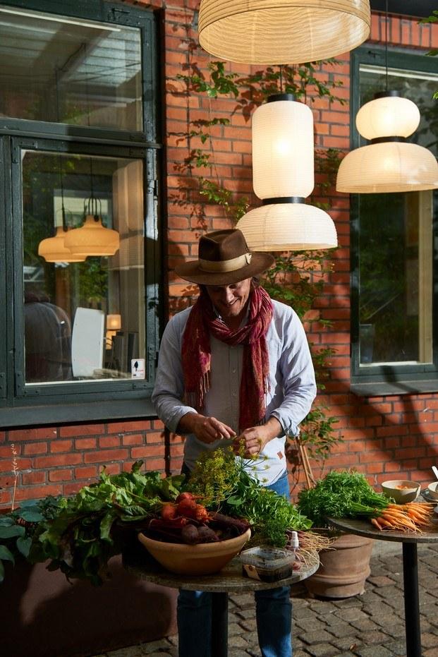 comida en el café de Copenhague Lille Petra