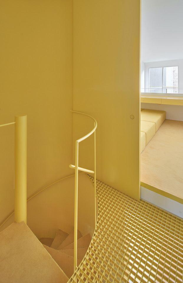 Planta primera. Arquitectura G piso amarillo