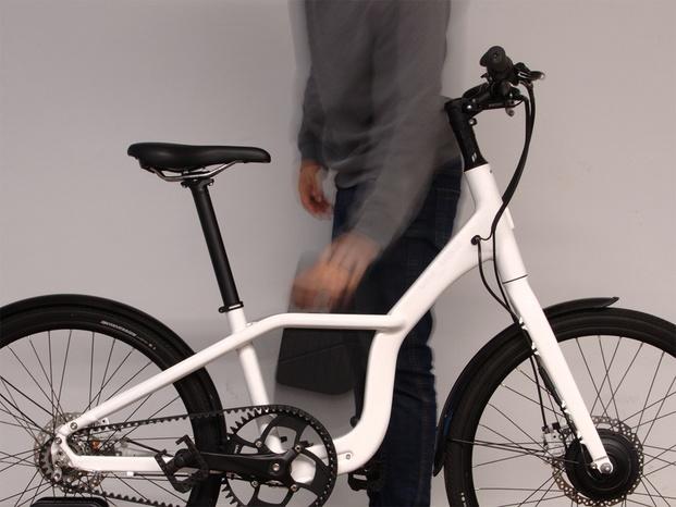 Bicicleta blanca Premio Delta 2018