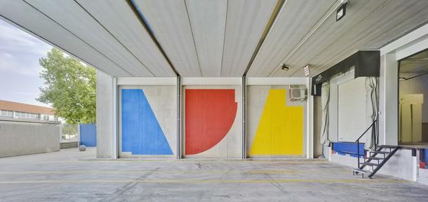Nuevas oficinas Sancal. Mural Seikon.