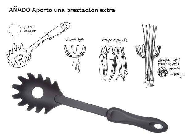 Escurridor pasta. Expo Funciono porque soy así. Madrid Design Festival