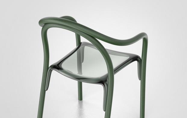 Sillas Soul de Eugeni Quitllet para Pedrali. Verde