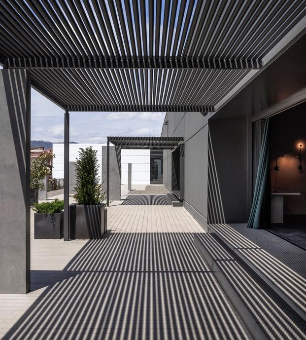 Vibia nuevas oficinas en Barcelona. Terraza