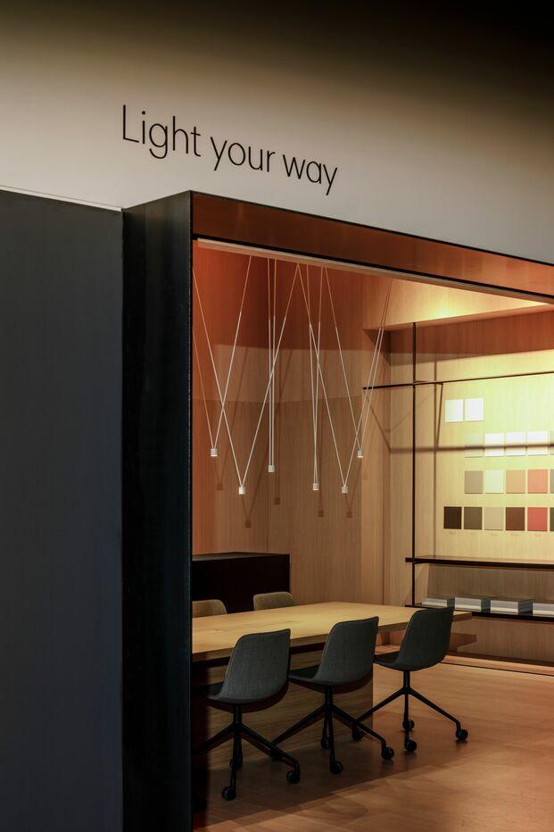 Vibia nuevas oficinas en Barcelona. Showroom