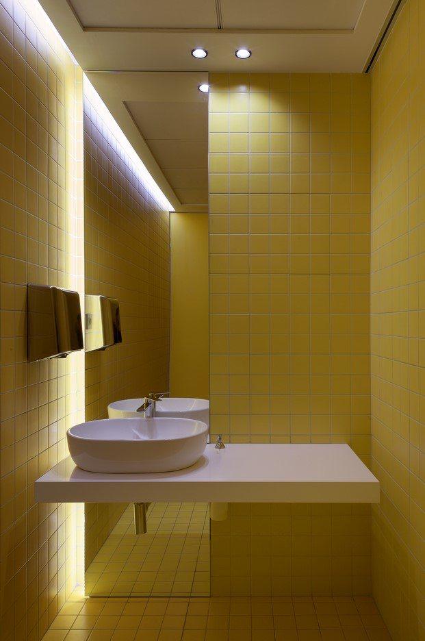 baño amarillo saniagua