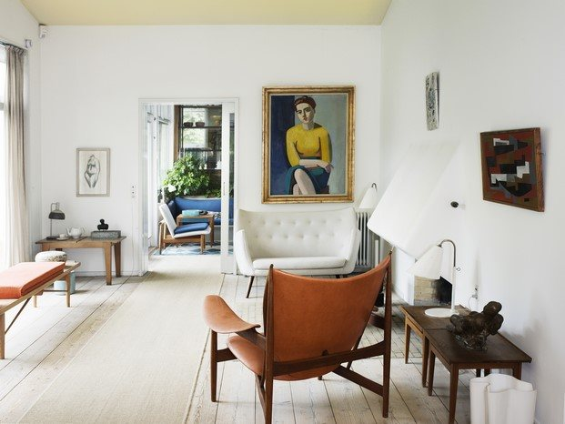casa de finn juhl diseño escandinavo años 40