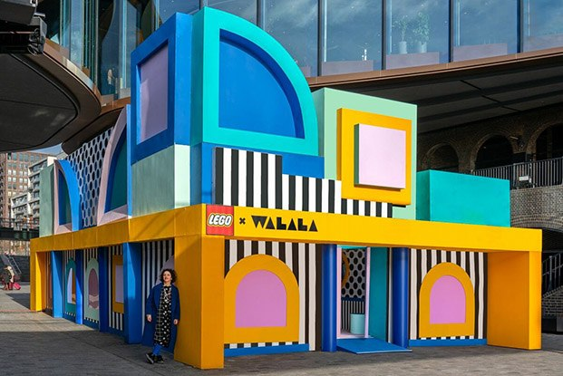 exterior house of dots camille walala lego