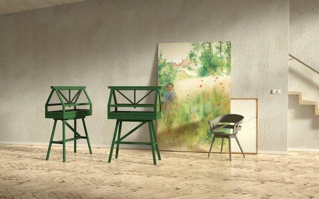 invernadero atelier 2+ design house stockholm color verde diseño y arte