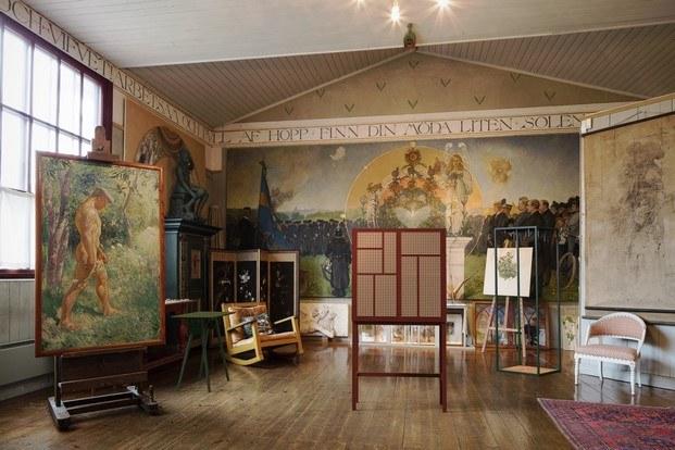 pintura carl larsson en el nationalmuseum estocolmo