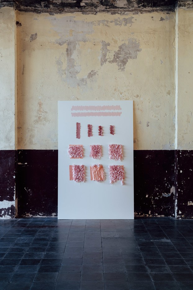 Hortensia Chair. Andrés Reisinger y Júlia Esqué. Pruebas textiles pétalos