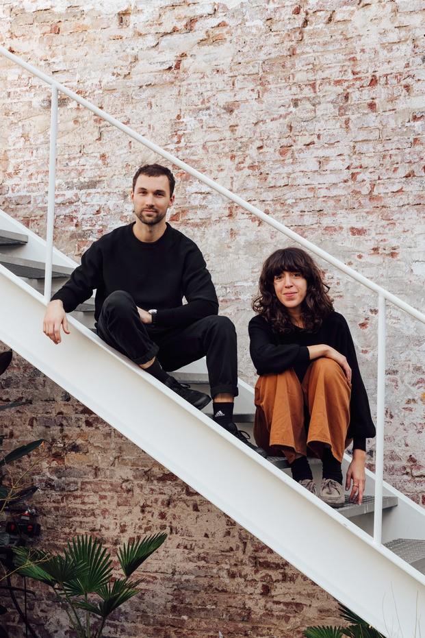 Andrés Reisinger y Júlia Esqué. Retrato juntos