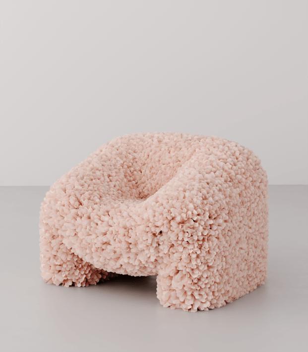 Hortensia Chair. Andrés Reisinger y Júlia Esqué. Render original 3D