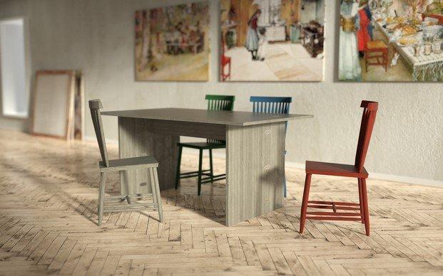 mesa flip y silla family design house stockholm diseño y arte karin carl larsson