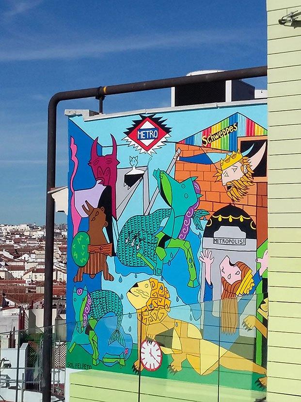 mural hotel indigo madrid