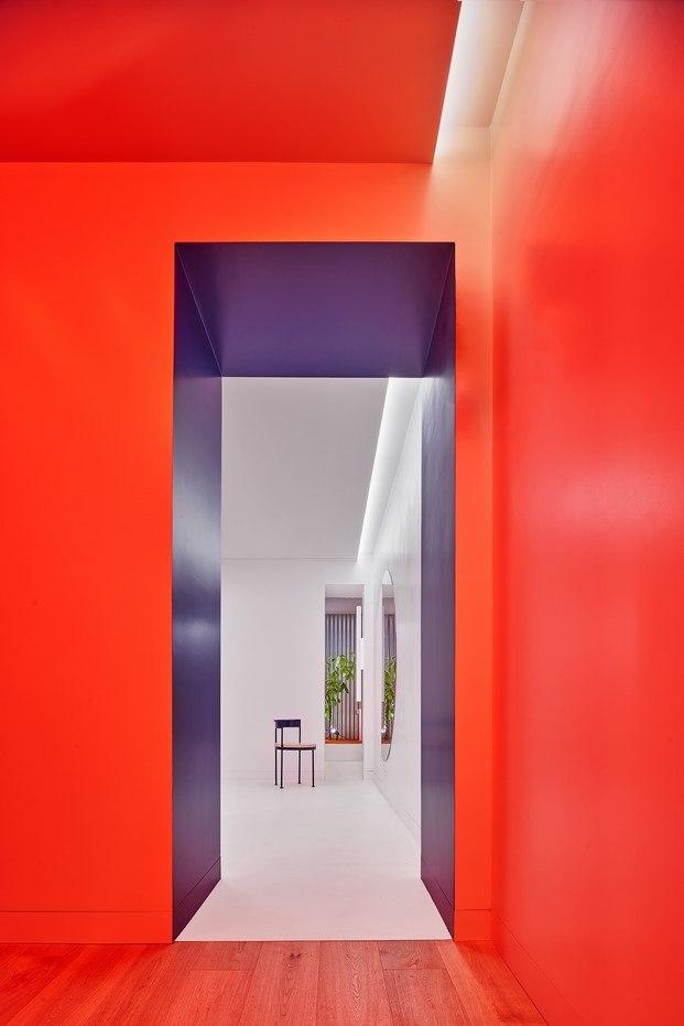 pasillo colores vivir entre plantas en Madrid Lucas y Hernández Gil