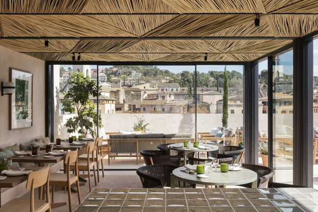 Hotel Casa Cacao Girona. Interiorismo Sandra Tarruella. Azotea