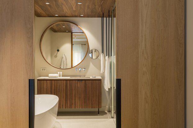 Hotel Casa Cacao Girona. Interiorismo Sandra Tarruella. Baño suite
