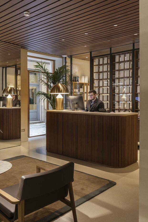 Hotel Casa Cacao Girona. Interiorismo Sandra Tarruella. Recepción