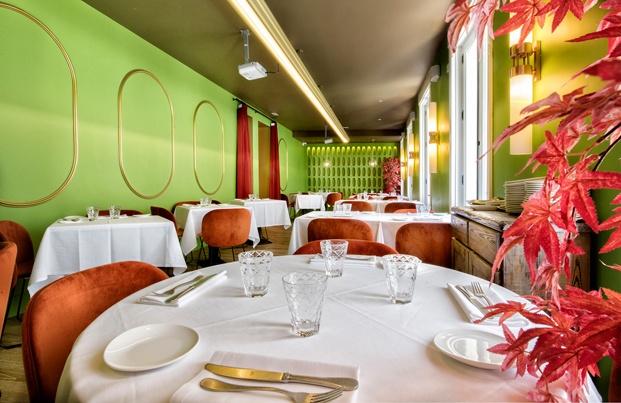 Restaurante Noi en Recoletos. Interiorismo verde.