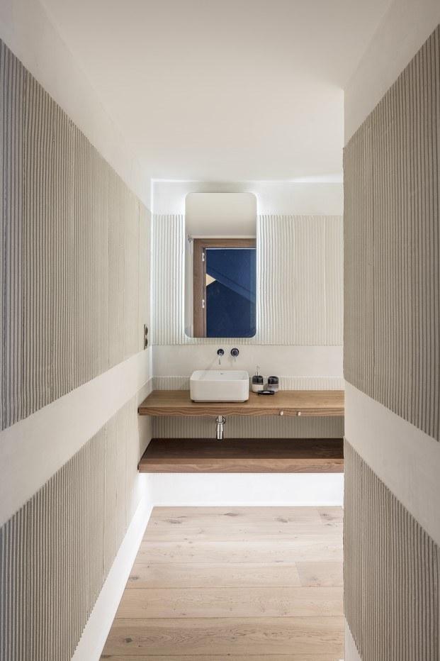 textura paredes piso en barcelona baño abag arquitectura