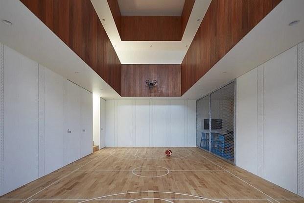 basket court house en shizuoka Japón para amantes del baloncesto