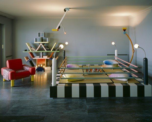 casa de Karl Lagerfeld en Monte Carlo con diseños Memphis