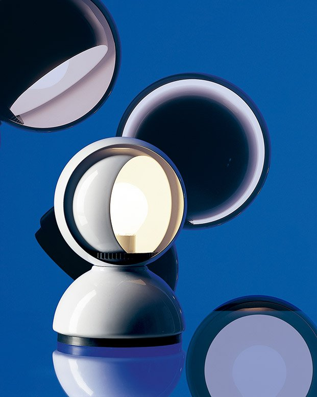 eclisse lámpara de vico magistretti para artemide diseño italiano