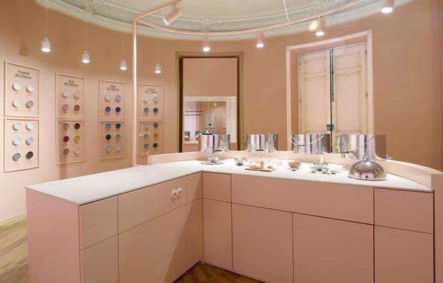 espacio valentine en casa decor 2020 diseñado por culdesac espejo