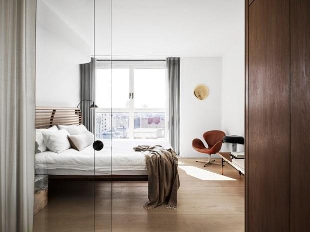 habitación principal vivienda diseñada por soren rose