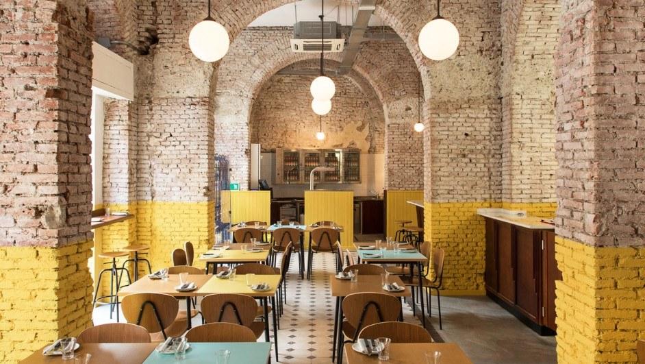 ladrillo visto restaurante en Milán