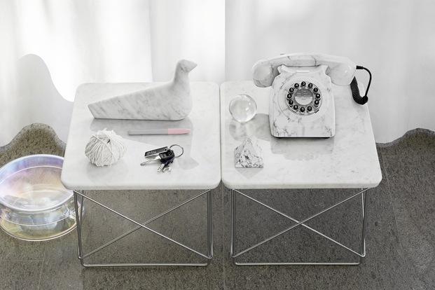 Novedades Vitra verano 2020. Occasional Table LTR. Eames. Mármol blanco