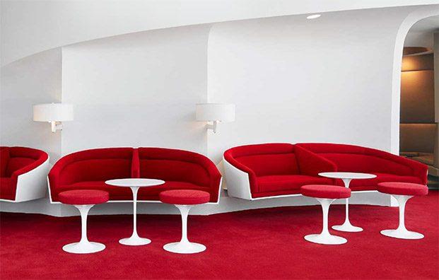 mobiliario knoll formas curvas eero saarinen twa hotel