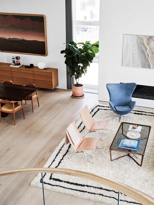 sala de estar en loft en nueva york