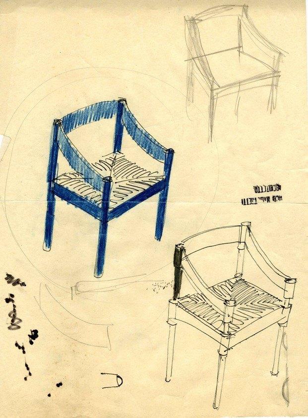 silla cassina 905 sketch