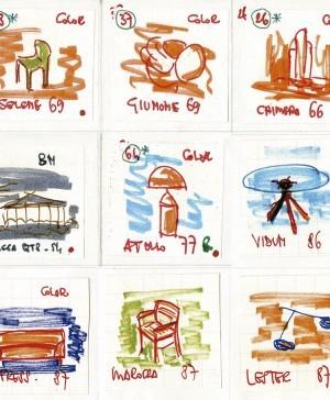 vico magistretti dibujos diseño