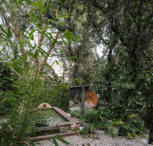 estanque vivienda en Madrid La Madriguera