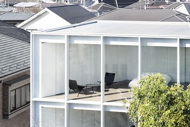 Casa minimalista Japón. Nendo. Exterior
