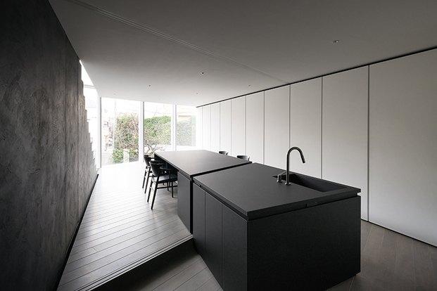Casa minimalista Japón. Nendo. Cocina