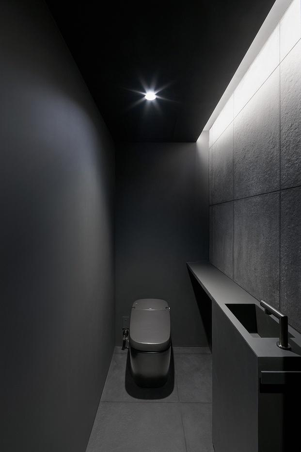 Casa minimalista Japón. Nendo. Baño