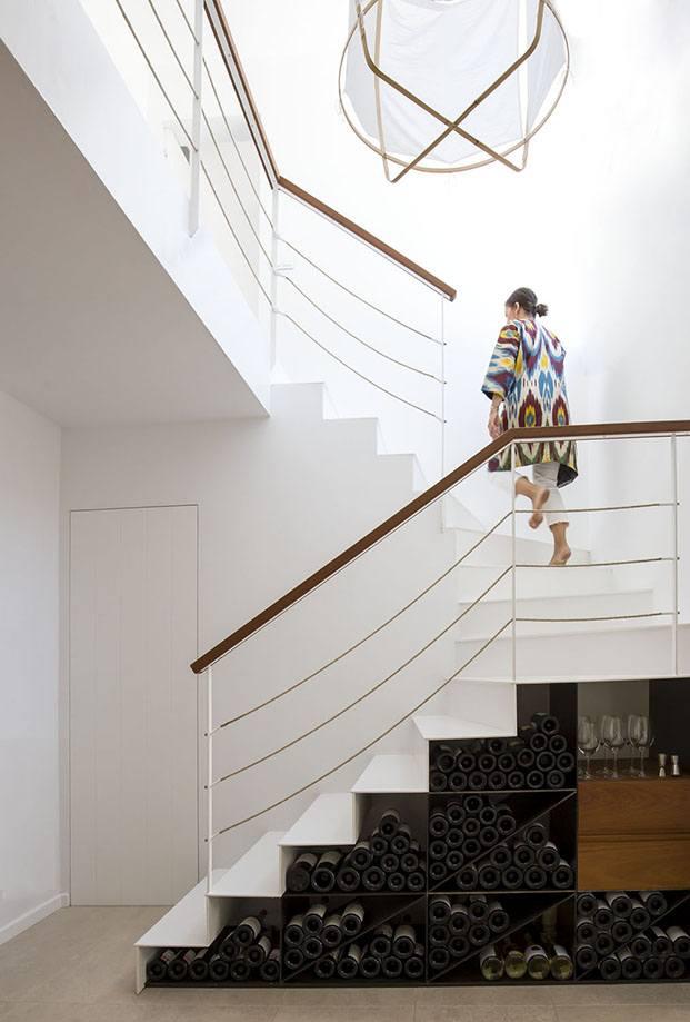 Casa Cala Molí. Menorca. Escalera.