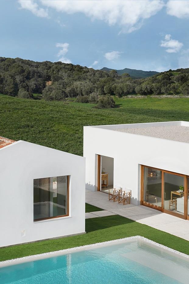 Casa blanca en Menorca
