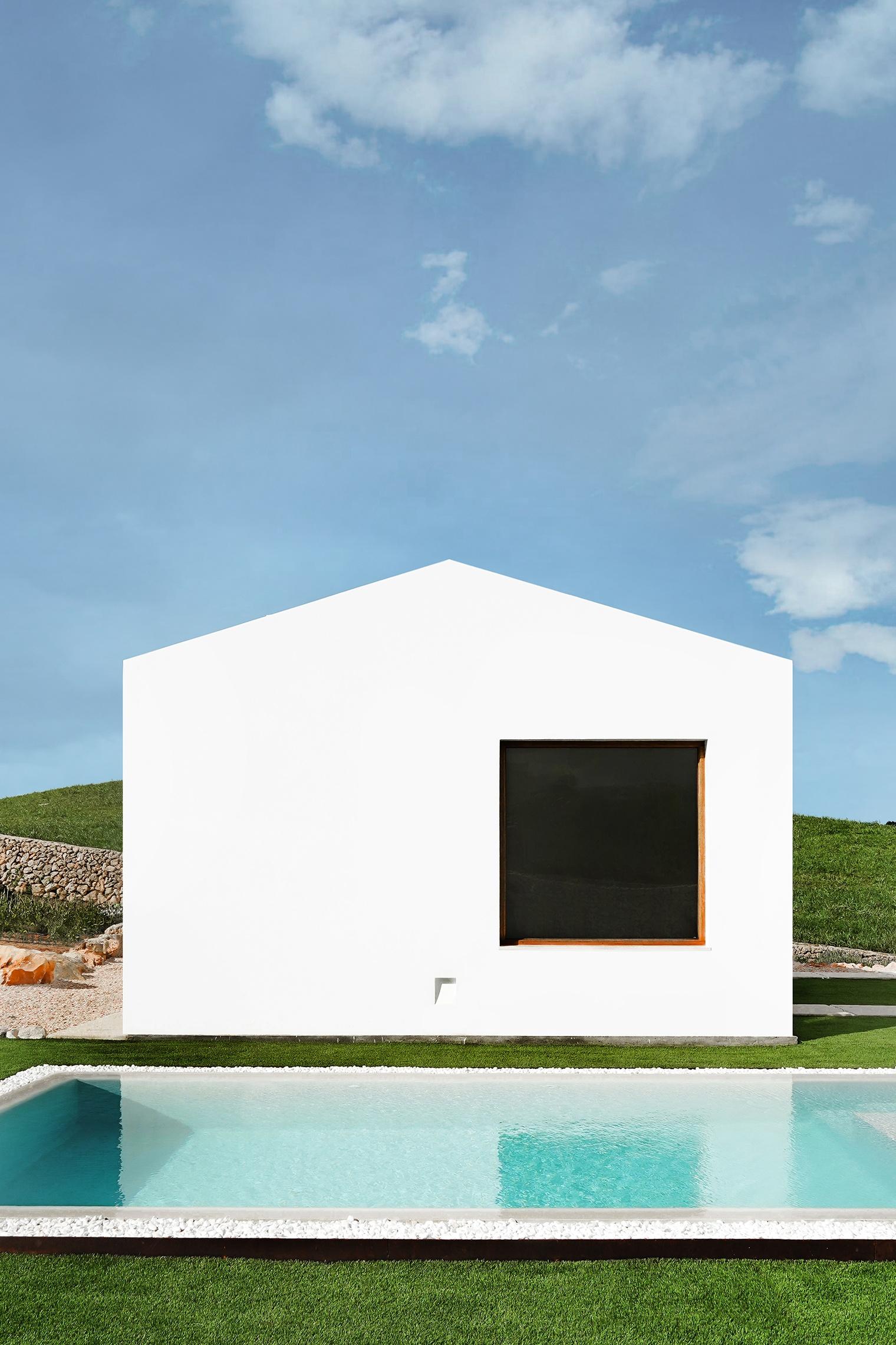 Marina Senabre Estudio. Casa E. Piscina. Es Mercadal. Menorca
