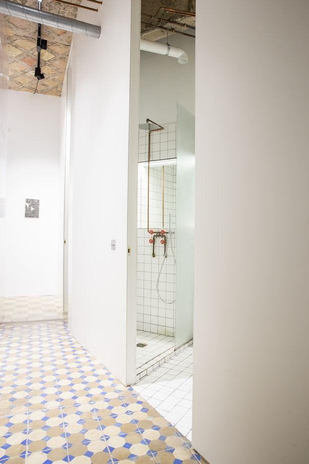 baño instalación a la vista en reforma en valencia