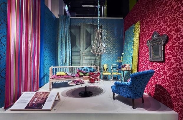 paleta de color designers guild exposición en londres