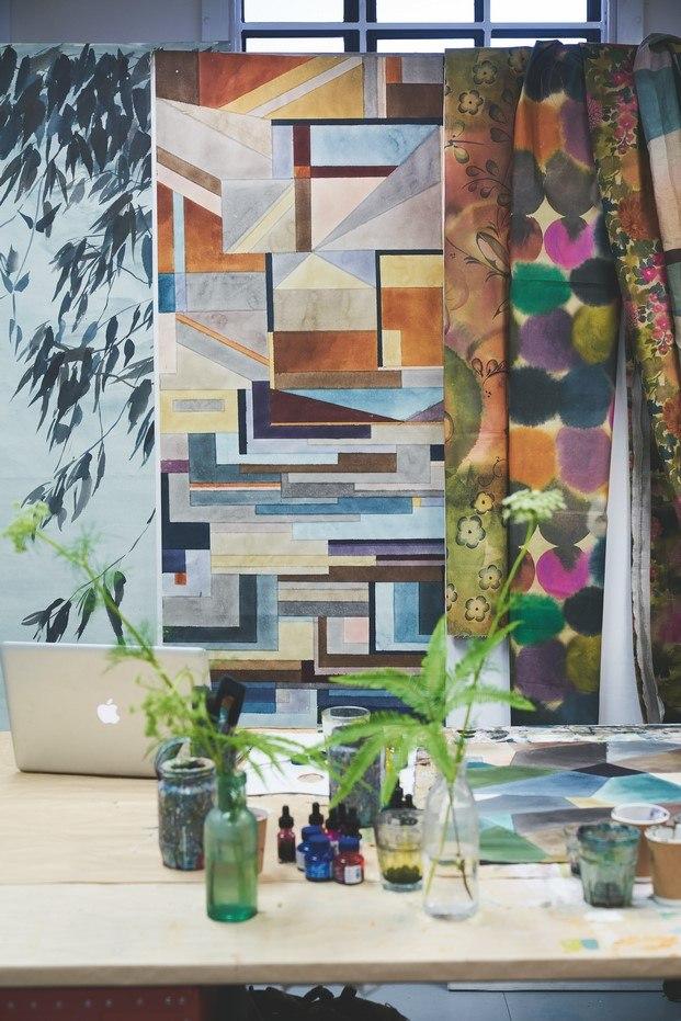inspiración flores geometría abstracción designers guild